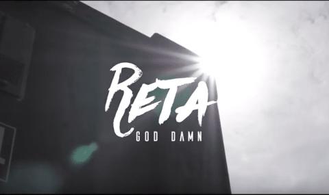 Dans «God Damn» RETA  shoote l'objectif  avec une batte comme un Red Sox!
