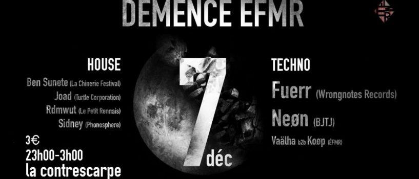 Rendez-vous le 7 décembre pour «Démence ÉFMR» à la Contrescarpe!