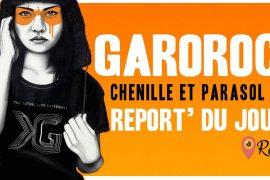 Garorock : Chenille et parasol bleu