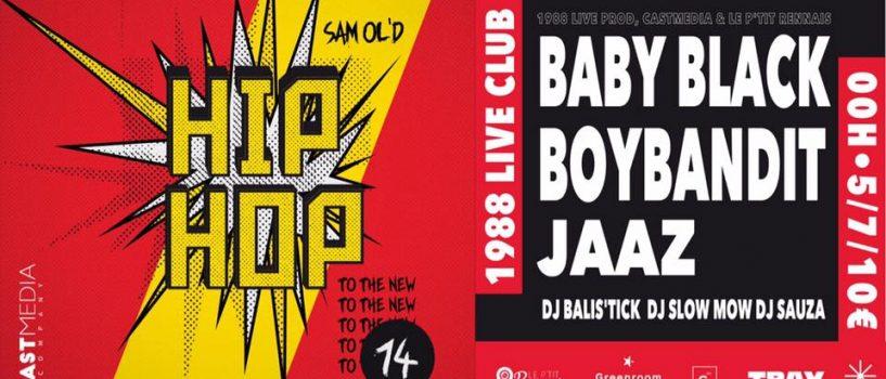 Un plateau 100 % rap pour la première soirée du P'tit Rennais au 1988 Live Club !